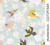 Seamless Pattern With Birds And ...