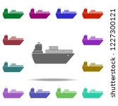 ship with containers icon.... | Shutterstock .eps vector #1227300121