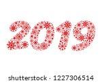 happy new year 2019  vector | Shutterstock .eps vector #1227306514