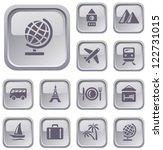 travel button set | Shutterstock .eps vector #122731015