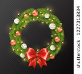 christmas garland. realistic... | Shutterstock .eps vector #1227313834