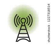 signal tower over green dot...   Shutterstock .eps vector #1227318514