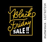 black friday sale badge with... | Shutterstock .eps vector #1227327214