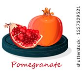 pomegranate hand drown vector... | Shutterstock .eps vector #1227329521