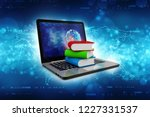 digital library and online... | Shutterstock . vector #1227331537