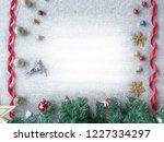 christmas frame decoration...   Shutterstock . vector #1227334297