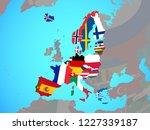 schengen area members with... | Shutterstock . vector #1227339187
