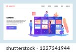 vector web site design template.... | Shutterstock .eps vector #1227341944