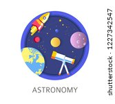 astronomy subject in school ...   Shutterstock .eps vector #1227342547