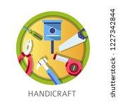 handicraft school discipline...   Shutterstock .eps vector #1227342844