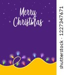 merry christmas greetings with...   Shutterstock .eps vector #1227347671