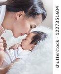 closeup portrait of beautiful... | Shutterstock . vector #1227351604
