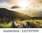 relaxing time  sitting on... | Shutterstock . vector #1227357094