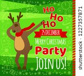 christmas party flyer card with ... | Shutterstock .eps vector #1227357871