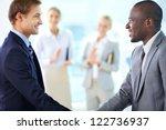 portrait of confident... | Shutterstock . vector #122736937