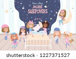 pajama party poster with fun... | Shutterstock .eps vector #1227371527