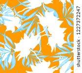 seamless floral pattern.... | Shutterstock . vector #1227372247