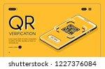 qr code verification service... | Shutterstock .eps vector #1227376084