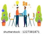 teamwork and partnership.... | Shutterstock .eps vector #1227381871