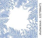 vintage christmas background... | Shutterstock .eps vector #1227386671