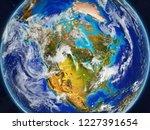 north america on realistic... | Shutterstock . vector #1227391654