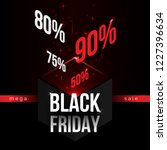 black friday modern isometric... | Shutterstock . vector #1227396634