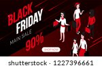 black friday modern isometric... | Shutterstock . vector #1227396661