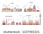 business city in england.... | Shutterstock . vector #1227401221
