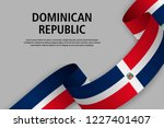 waving ribbon with flag of... | Shutterstock .eps vector #1227401407