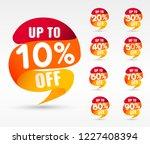 sale tags set vector badges... | Shutterstock .eps vector #1227408394