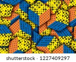 multicolored cubes with... | Shutterstock . vector #1227409297