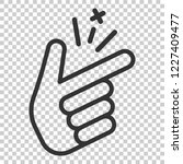 finger snap icon in flat style. ... | Shutterstock .eps vector #1227409477