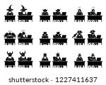 different characters and people ... | Shutterstock .eps vector #1227411637