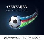 azerbaijan flag soccer football ... | Shutterstock .eps vector #1227413224