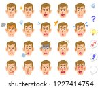 twenty types of facial... | Shutterstock .eps vector #1227414754