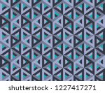 impossible figures isometric 3d ... | Shutterstock .eps vector #1227417271