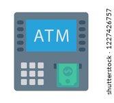 atm  machine  withdraw  | Shutterstock .eps vector #1227426757