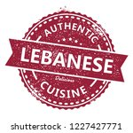 lebanese authentic cuisine stamp | Shutterstock .eps vector #1227427771