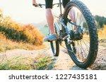 mountain biker ride down from... | Shutterstock . vector #1227435181