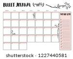 bullet journal year monthly... | Shutterstock .eps vector #1227440581