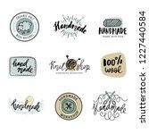 handmade line vintage logo set. ... | Shutterstock .eps vector #1227440584
