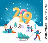 happy new year and merry... | Shutterstock .eps vector #1227447751