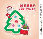 christmas vector illustration...   Shutterstock .eps vector #122744797