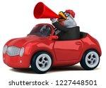fun chicken   3d illustration | Shutterstock . vector #1227448501