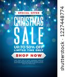 christmas sale design with... | Shutterstock .eps vector #1227448774