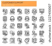 customer support   thin line... | Shutterstock .eps vector #1227450007