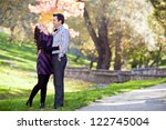 young couple together at a mark | Shutterstock . vector #122745004