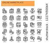 online marketplace   thin line... | Shutterstock .eps vector #1227450064