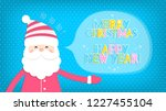 christmas background with santa ... | Shutterstock .eps vector #1227455104