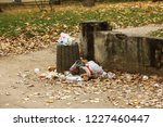 garbage in the city. people... | Shutterstock . vector #1227460447